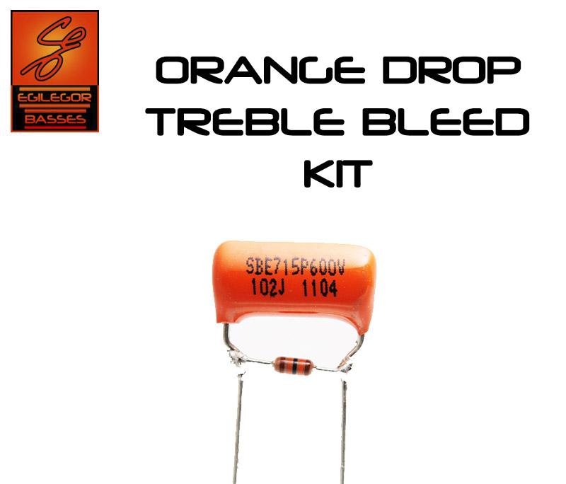Stratocaster Wiring Diagram Treble Bleed : Orange drop treble bleed kit for guitar telecaster